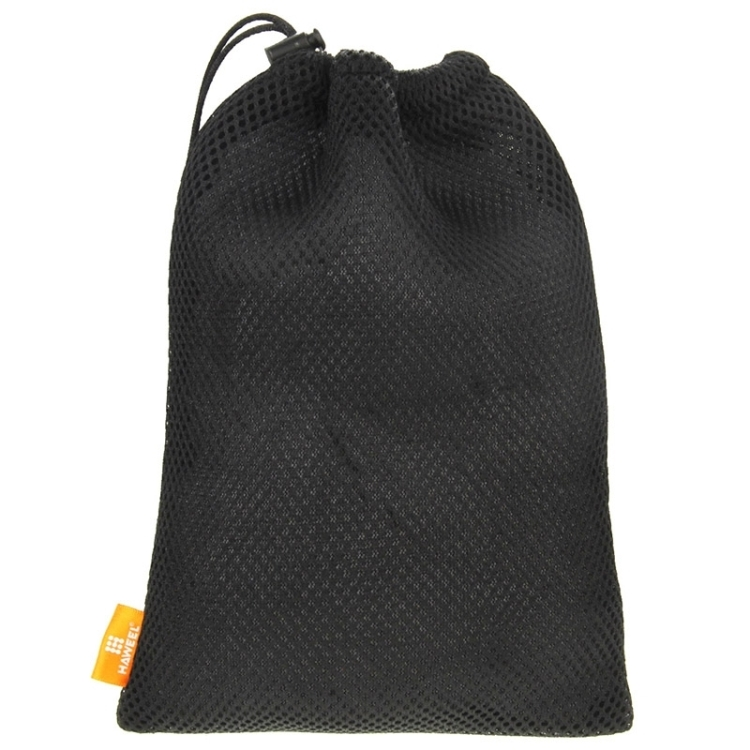 HAWEEL Nylon Mesh Drawstring Pouch Bag with Stay Cord for up to 7.9 inch Screen Tablet, Size: 24cm x 16cm(Black)