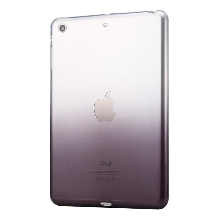 HAWEEL for iPad mini 1 / 2 / 3 Slim Gradient Color Clear Soft TPU Case(Black)