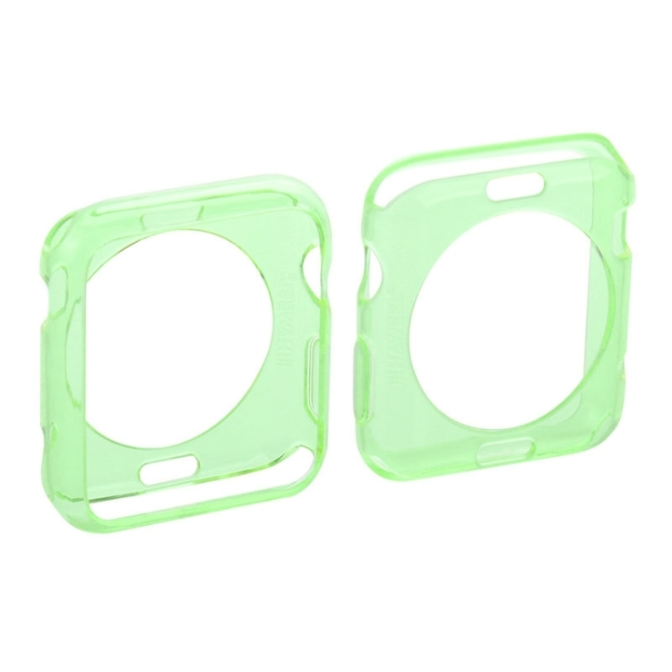 HAWEEL for Apple Watch 42mm Slim Transparent Soft TPU Protective Case(Green)