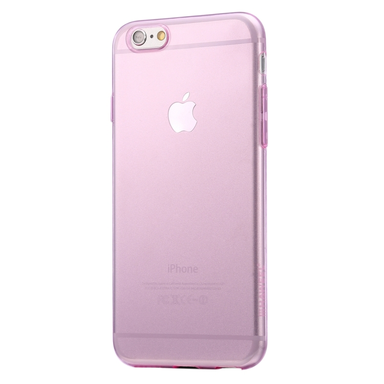 HAWEEL 0.3mm Zero Series Transparent TPU Protective Case for iPhone 6 & 6s(Pink)