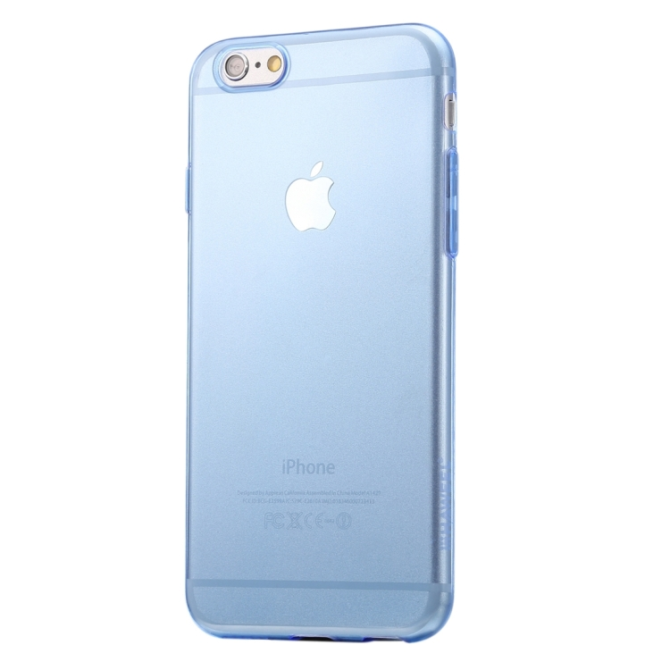 HAWEEL 0.3mm Zero Series Transparent TPU Protective Case for iPhone 6 & 6s(Blue)