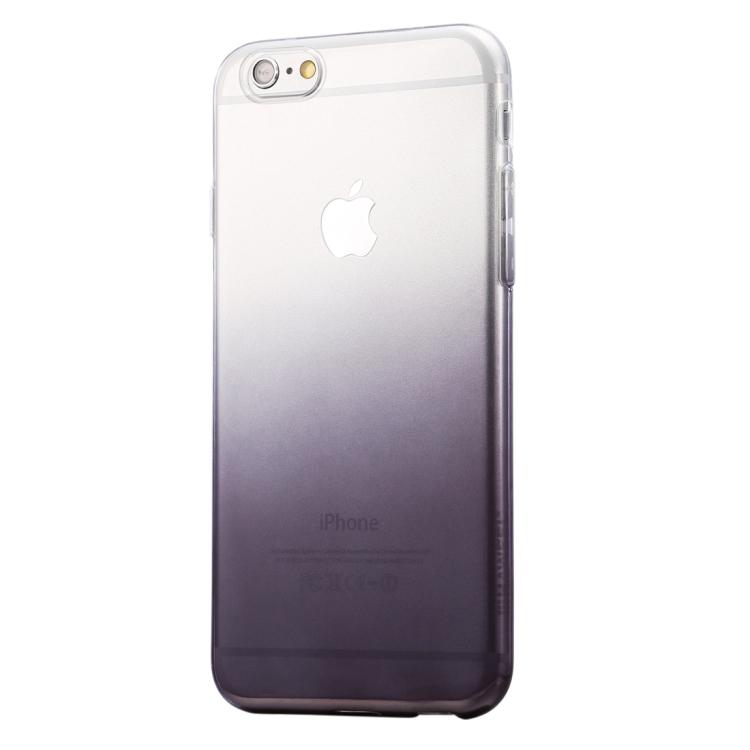 HAWEEL Ultra Slim Gradient Color Clear Soft TPU Case for iPhone 6 Plus & 6s Plus(Black)