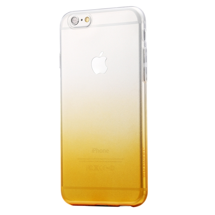 HAWEEL for iPhone 6 & 6s Ultra Slim Gradient Color Clear Soft TPU Case(Orange)