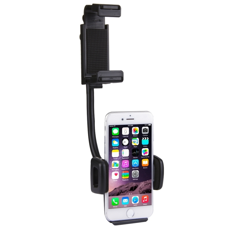 [US Stock] HAWEEL 2 in 1 Universal Car Rear View Mirror Stand Mobile Phone Mount Holder, Clamp Size: 40mm-80mm