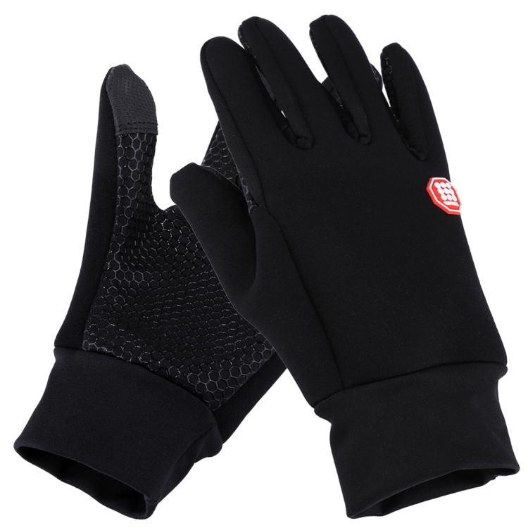 HAWEEL Mens Outdoor Sports Wind-stopper Full Finger Winter Warm Gloves, Two Fingers Touch Screen
