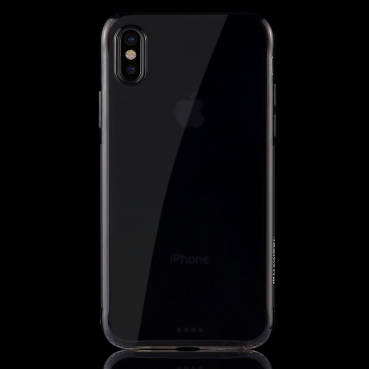 HAWEEL for iPhone X Soft Transparent TPU Protective Case(Black)