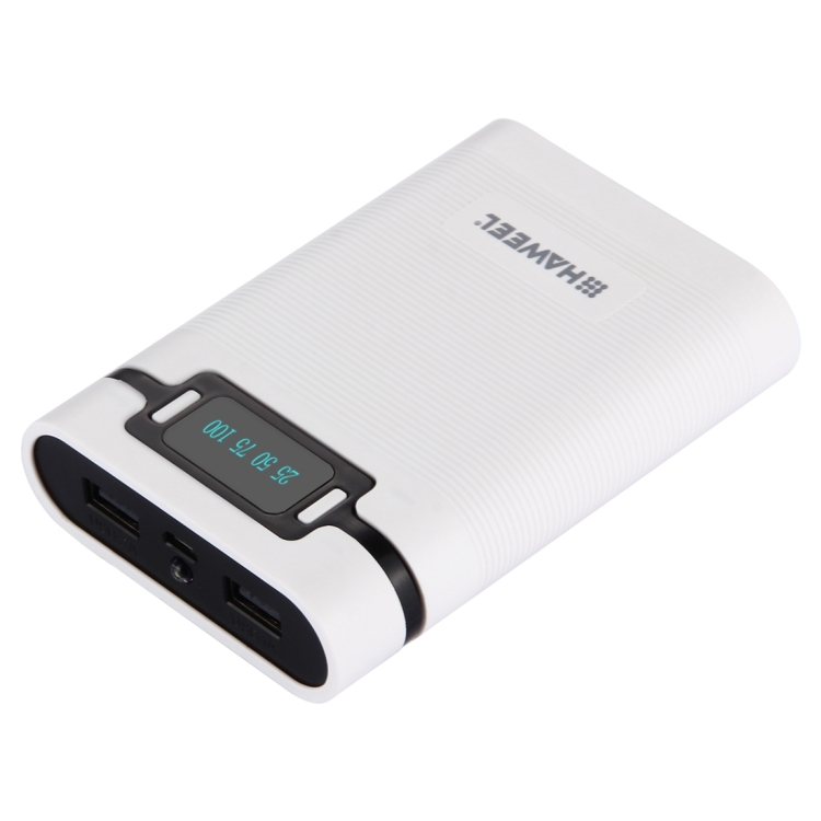 HAWEEL DIY 4x 18650 Battery (Not Included) 10000mAh Power Bank Shell Box with 2x USB Output & Display