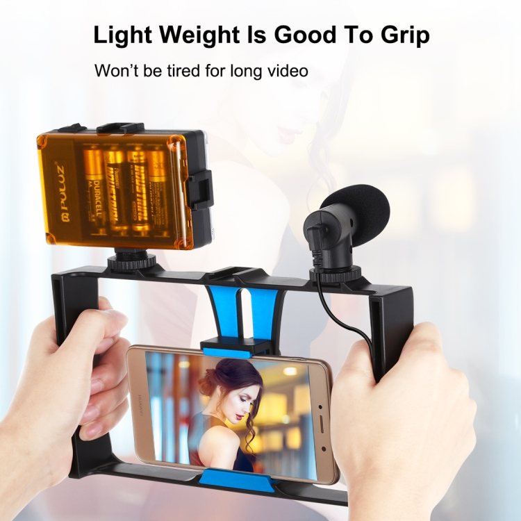 Tripod Mount Adjustable stand 4 in 1 Vlogging Live Broadcast LED Selfie Light Smartphone Video Rig Kits with Microphone Cold Shoe Tripod Head for iPhone Goo Galaxy Xiaomi HTC LG Huawei