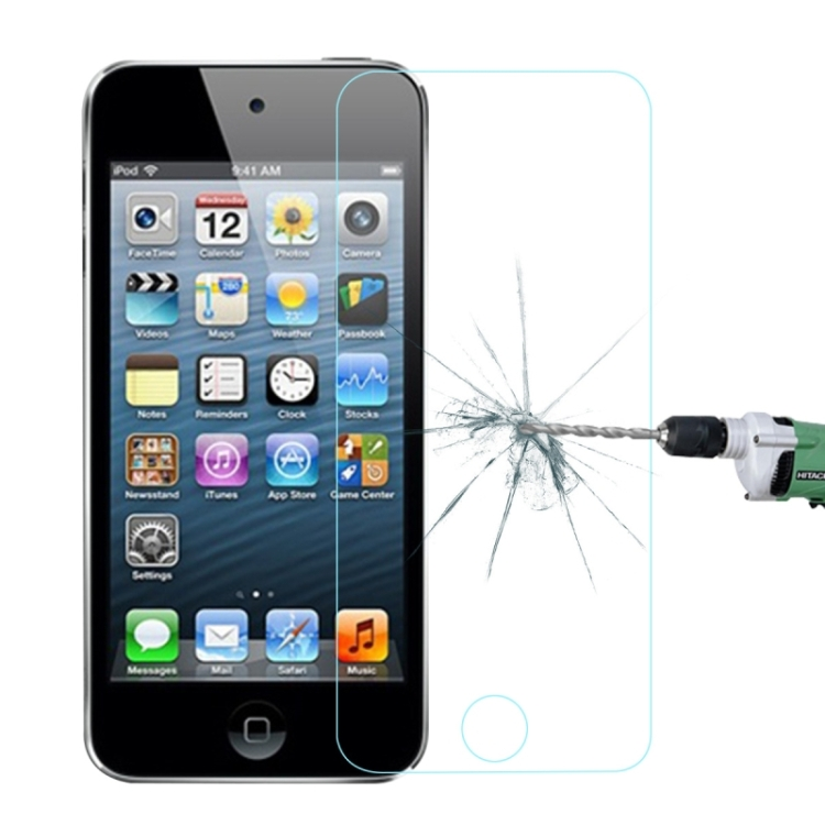 0.26mm Ultra-thin Transparent Full Screeen Explosion-proof Tempered Glass Film for iPod touch 5 & touch 6