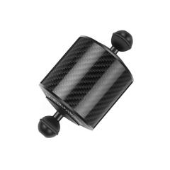 ZL-U High quality 11 inch 27.9cm Length 20.8mm Diameter Dual Balls Carbon Fiber Floating Arm Black Ball Diameter: 25mm Color : Black
